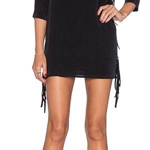 Jen's Pirate Booty Banshee Silk Fringe Mini Skirt